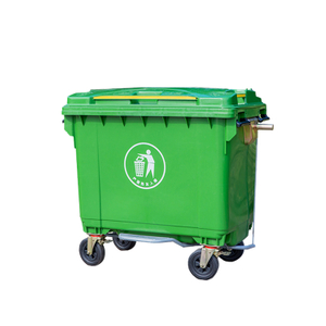 660l Large Outdoor Recycling Plastic Garbage Bin