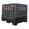 HDPE Made Euro Type Foldable Large Container With Drop Doors
